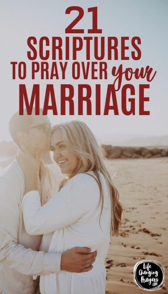 scriptures to pray for your marriage - pin for pinterest