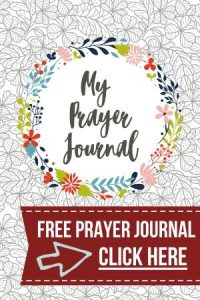 Click to get your free printable prayer journal