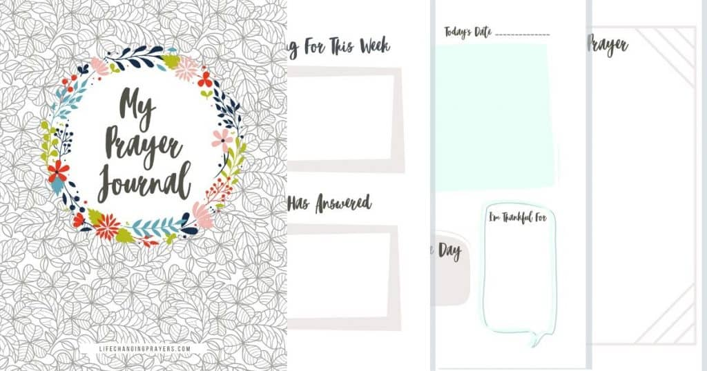Click here for your free printable prayer journal