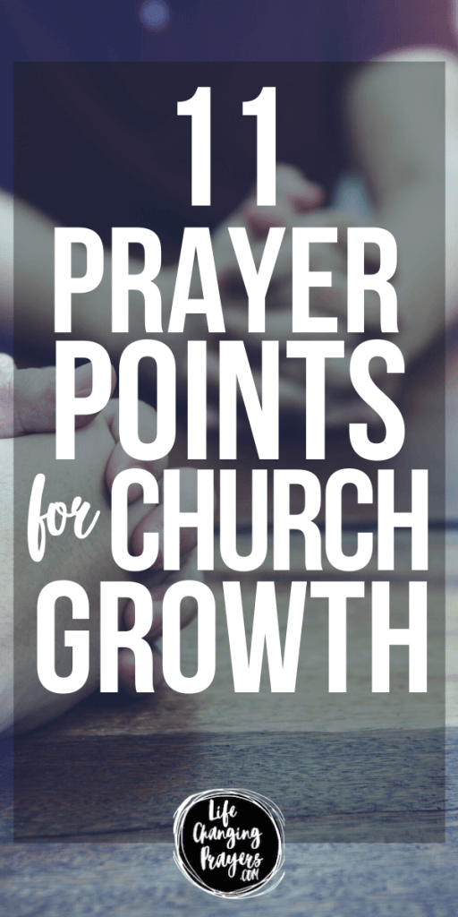Prayers for church growth - pin for pinterest