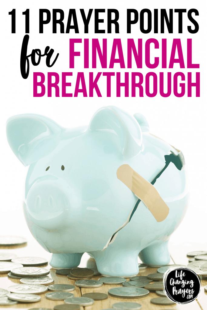 Financial Breakthrough Prayer Points - pin for pinterest